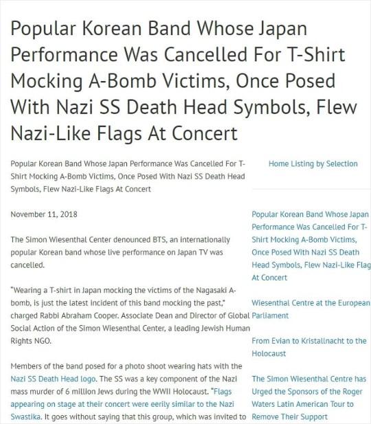 BTS şimdi de Nazi tartışmasıyla anılıyor