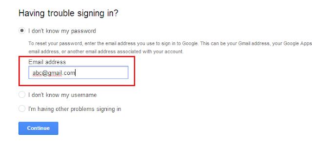 Google will send the code