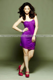 Sandeepa Dhar In Purple Skirt With Red High Heels 2