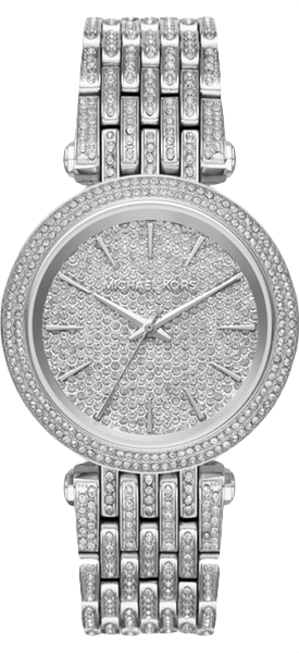 MICHAEL KORS Darci Pavé Silver-Tone Watch