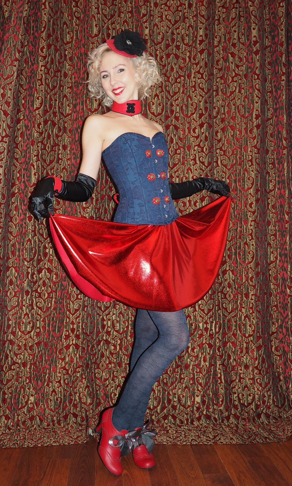 burlesque, buttons, choker, corset, fascinator, Gaultier, Glasgow, Glasgow Clyde College, goth, Madonna, shoes, skirt, soutache, tights, vegan, soutache, Vegetarian Shoes,