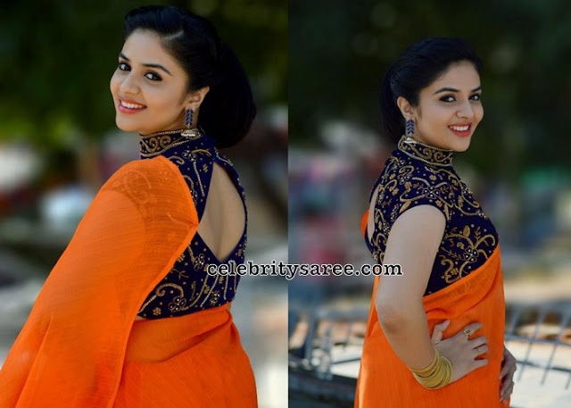 Sreemukhi High Neck Blouse