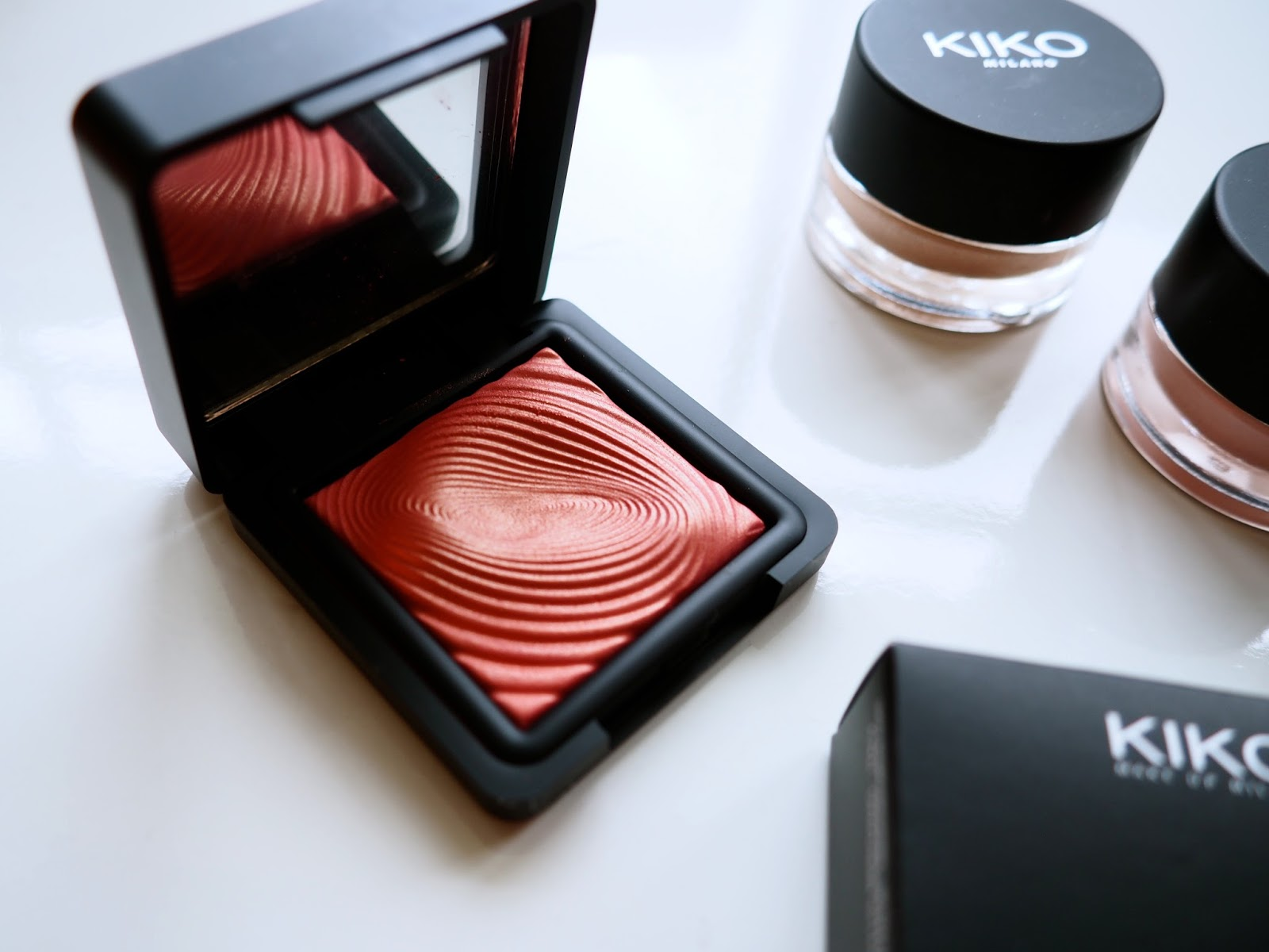 It's Cultured Kiko Haul Kiko Water Eyeshadow 218 Grapefruit Pink