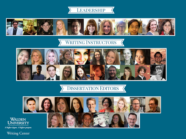 A photo collage of each member of the Writing Center staff. Enjoy!