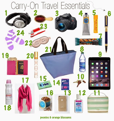 carry on travel essentials for international flights