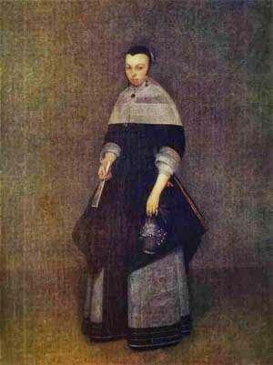 Retrato de uma Senhora - Gerard Terborch ~ Pintor Barroco ~ Holandês