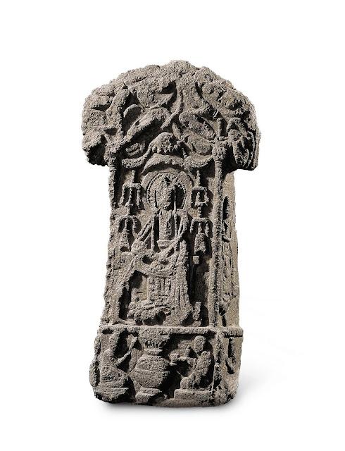 계유명삼존불비상(碑岩寺石像), 통일신라, 높이 43cm, 너비 27.5cm, 높이 58.5cm, 너비 32.5cm, 높이 40cm, 너비 21.4cm, 국보 제106호