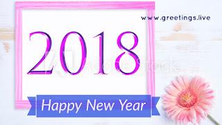 Basic flower greeting 2018 inside  frame border