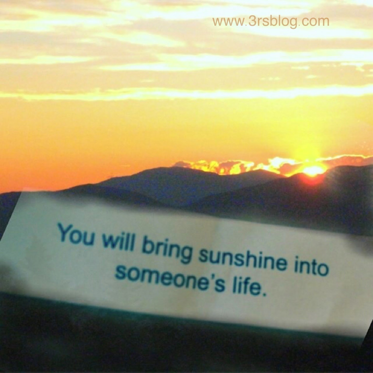A sunny fortune on The 3 R's Blog