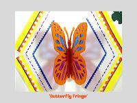 Butterfly Fringe, pop up card by Minaz Jantz