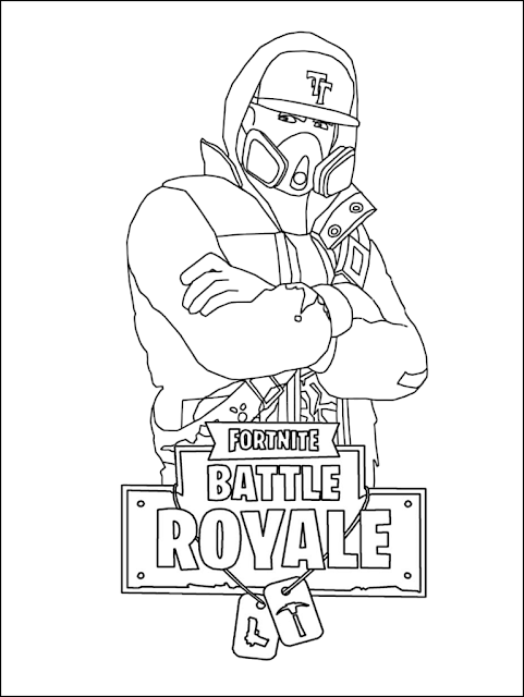 Fortnite Coloring Pages Raven to Print ... | Blank coloring pages ... | 640x481