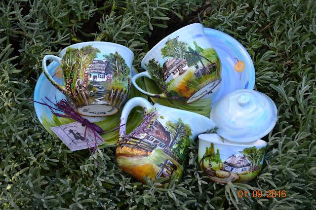 Coś o blogu...i o sielskich klimatach na porcelanie