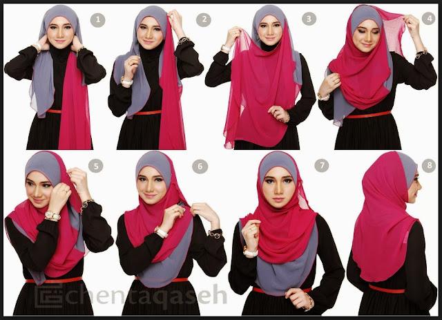 tutorial hijab segi 4 terbaru