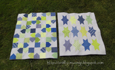 Twinsie quilts, side-by-side