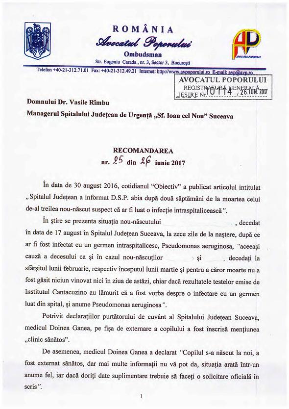 Avocatul Poporului, după moartea a trei bebeluși: Spitalul Județean Suceava a încălcat dreptul la viață, la sănătate și normele pentru prevenirea infecțiilor spitalicești
