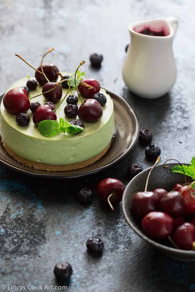Easy Avocado cheese cake recipe