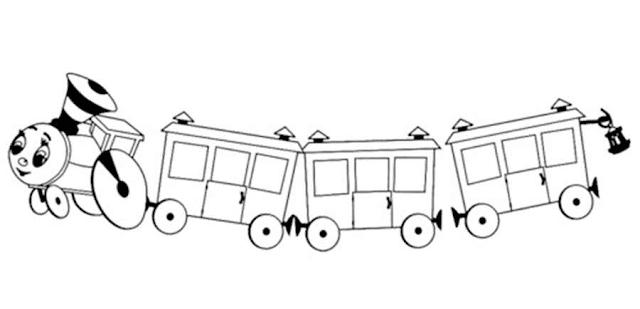 Gambar Kereta Api Untuk Mewarnai Mewarnai Gambar Kereta Api Sederhana Untuk Anak