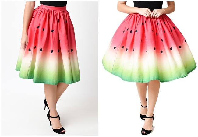 快點一起來穿Unique Vintage西瓜裙消暑氣