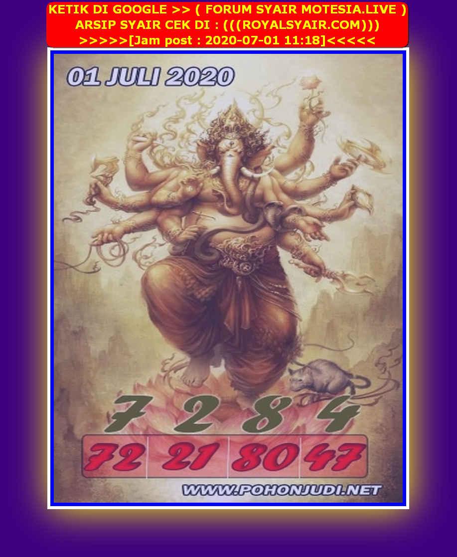 Kode syair Singapore Rabu 1 Juli 2020 82