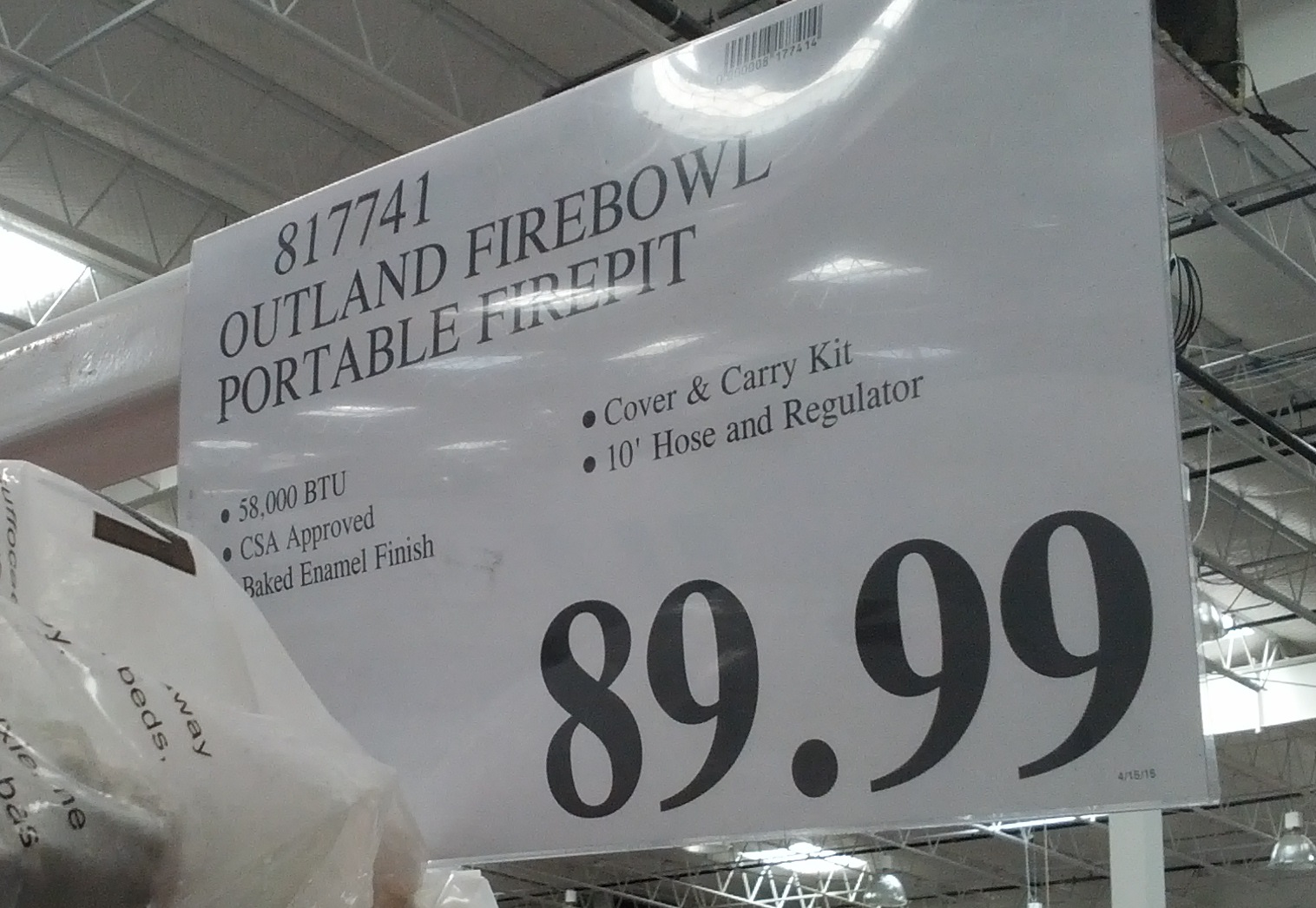 Outland Firebowl Deluxe Portable Firepit | Costco Weekender on Costco Outdoor Fireplace id=42106