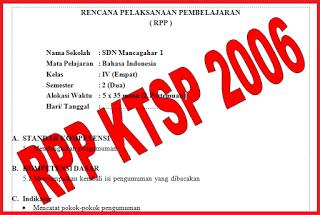 RPP KTSP SD/M Kelas 1 - 6 Lengkap