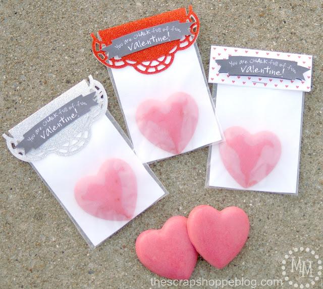 DIY chalk hearts