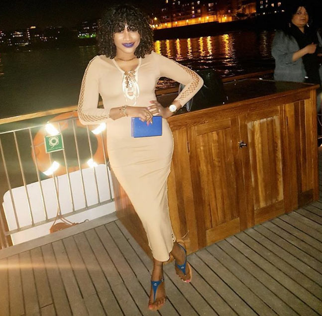 Oge Okoye slays her curves inside body-hugging gown on London outing