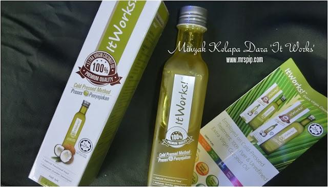 Minyak Kelapa Dara 250ml jenama ItWorks, botol besar dan harga berpatutan @ RM27.00