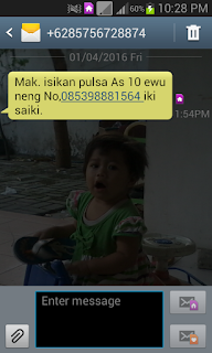 Contoh SMS Penipuan
