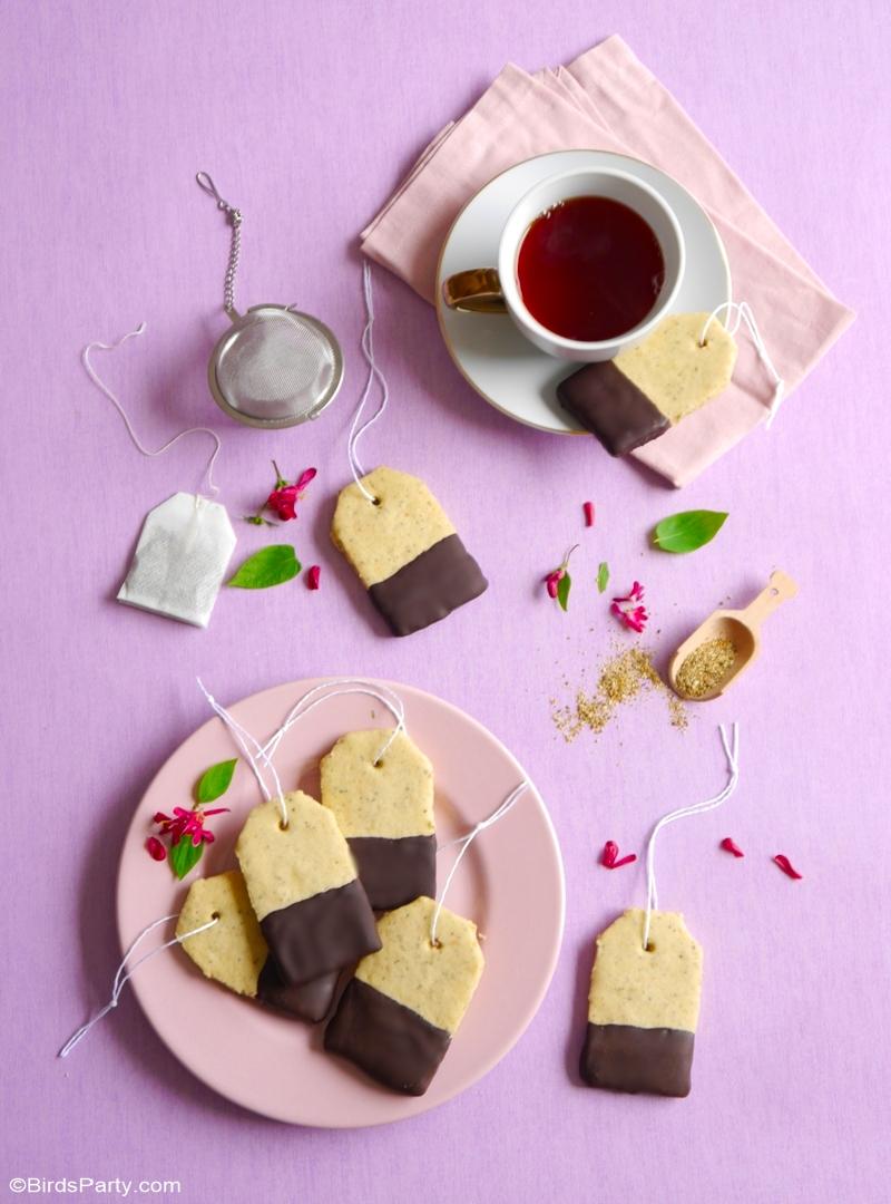 Recette Biscuits au Thé Earl Grey - une recette facile et délicieuse pour le goûter, la fête des mères ou tout simplement pour vous faire plaisir! by BirdsParty.com @birdsparty #cookies #biscuits #thérecettes #recettesthé #earlgreythé #théparty #fetedesmères #recettecookies