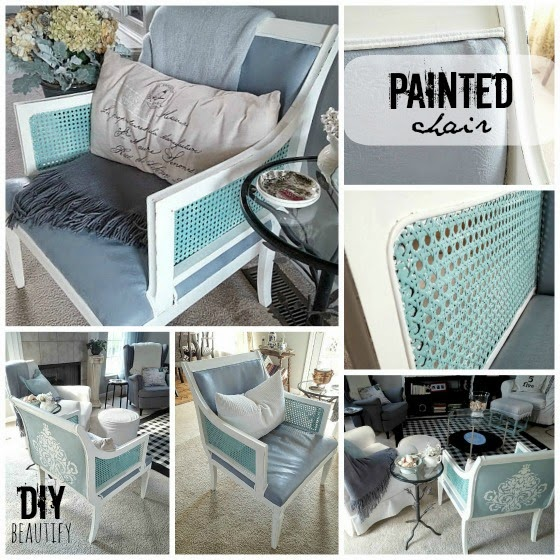 Painting an Upholstered Chair with Chalk Paint www.diybeautify.com