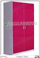 Lemari Baju Modern Minimalis Warna 2 Pintu Candy