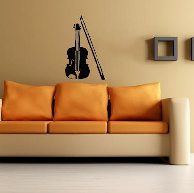Violin Wall Decal