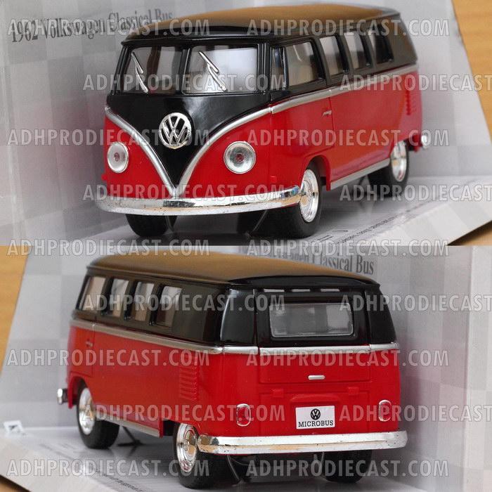 Miniatur Mobil VW Bus 1962 Kombi Black Top