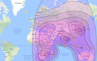 Satellite Beam Thaicom 5 78.5°E C Band