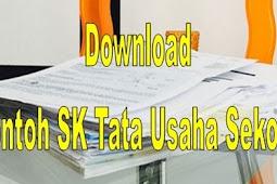 Download SK Tata Usaha (TU) SD Tahun 2018