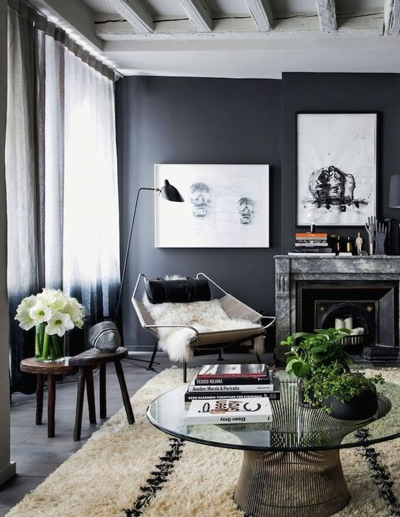 how to use dark grey paint