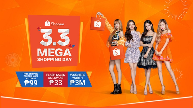Shopee Launches 3.3 Sale, Intros BLACKPINK as New Ambassador