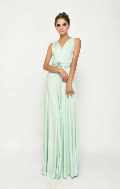 full length dress blue