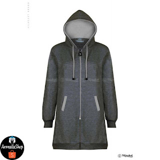 HJ4 Hijacket BASIC MIsty x Grey JAKET MUSLIMAH ORIGINAL PREMIUM FLEECE