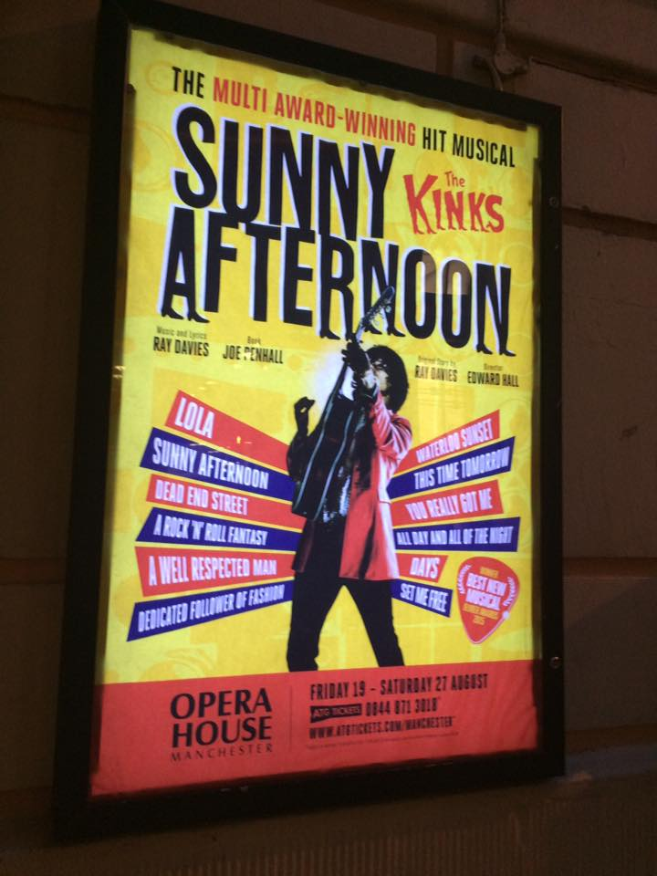 Review Sunny Afternoon Manchester Opera House Alex Herself