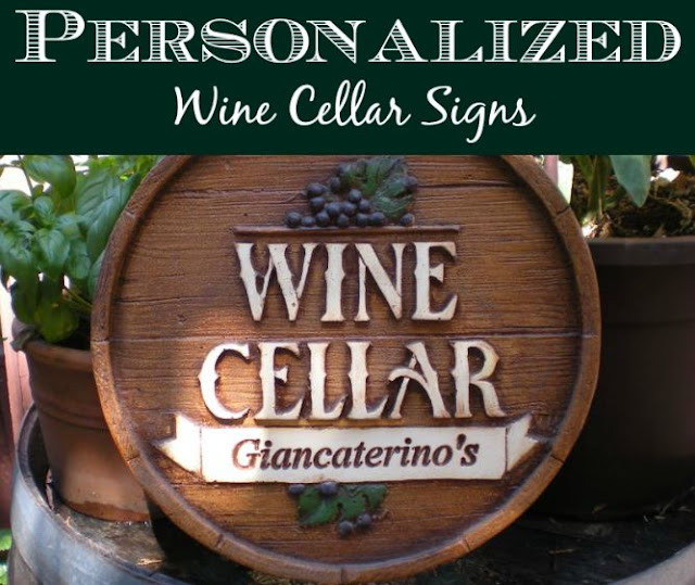 Personalized Wine Cellar Plaques & The Best Wine Gifts: Personalized Wine Cellar Plaques