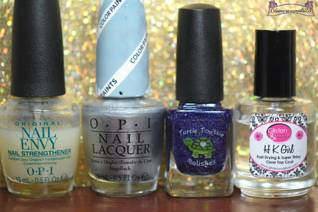 O.P.I Original Nail Envy, O.P.I Silver Canvas, Turtle Tootsie Polishes Fall Majesty, Glisten & Glow HK Girl Fast Drying Top Coat