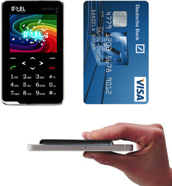 DOEL unveils Card Feature Phone an Ultra Slim Credit Card Sized GSM enabled Phone