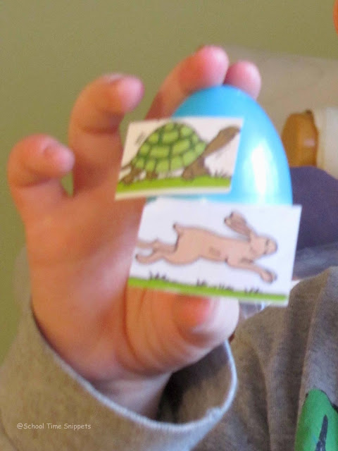 creative way to use easter eggs- match opposite pairs