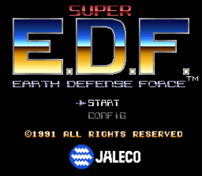 【SFC】超級地球防衛隊原版+半透明無敵版,E.D.F:Super Earth Defense Force!