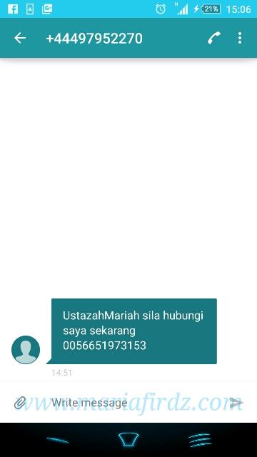TERTIBA DAPAT SMS PELIK!!!