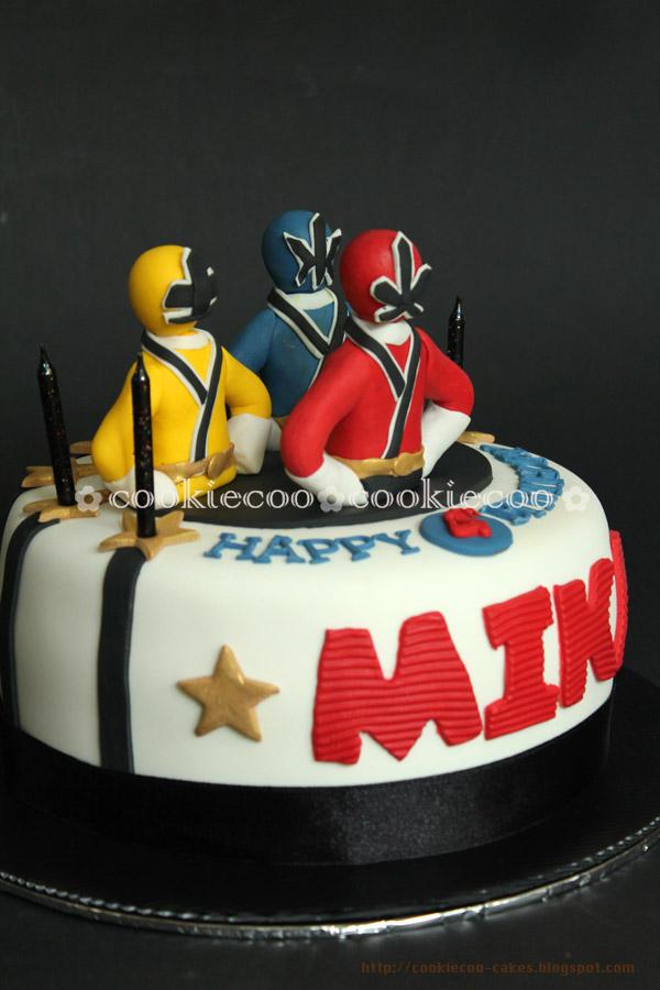 Cookiecoo Power Rangers Cake For Mika