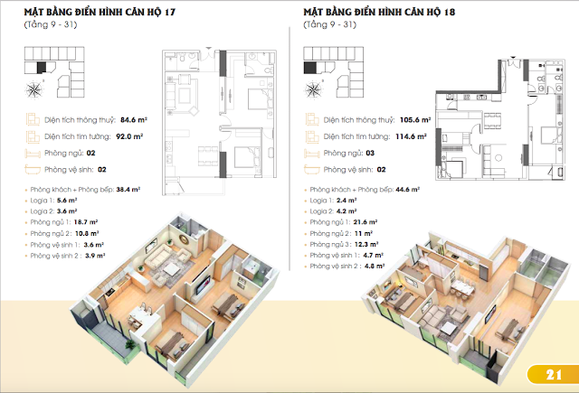 Thiết kế căn hộ chung cư Golden park Tower