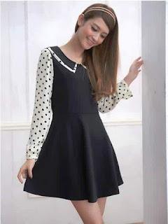Dress Lengan Panjang Anak Perempuan Remaja